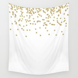 Sparkling golden glitter confetti - Luxury design Wall Tapestry