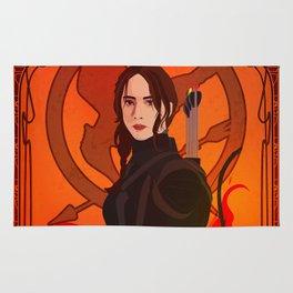 Fight Like A Girl: Katniss Everdeen Rug
