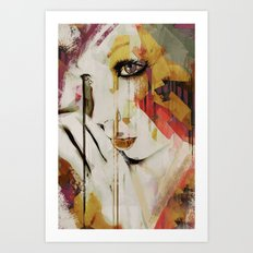 Pages Abstract Portrait Art Print