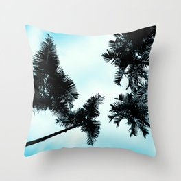 Turquoise Fun - nature photography Throw Pillow