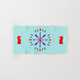 Chess Piece Design Hand & Bath Towel