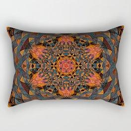 Tangerine Mandala Rectangular Pillow