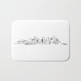 Denver Skyline Drawing Bath Mat