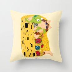 Klimt muppets Throw Pillow