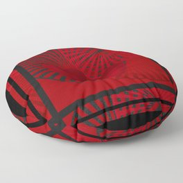 Love. The loving hearts . The red background . Floor Pillow