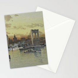 Vintage Pictorial View of NYC (1896) Stationery Cards