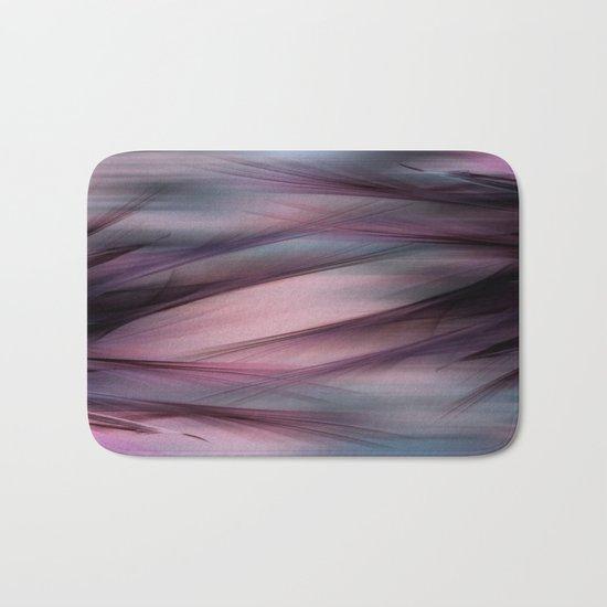 Soft Hazy Mauve Abstract Bath Mat