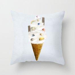 galaxy cone Throw Pillow