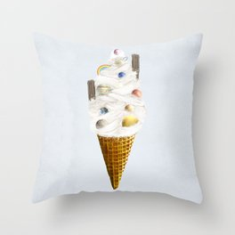 galaxy cone Throw Pillow