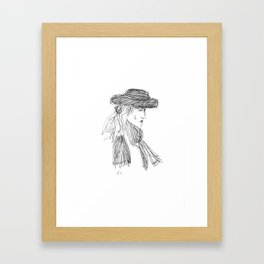 Lady in the Hat Framed Art Print