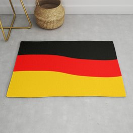 Black Red and Yellow German Flag Wave Rug