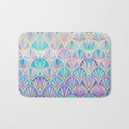Glamorous Twenties Art Deco Pastel Pattern Bath Mat