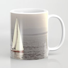 Sailing boat on the lake Coffee Mug