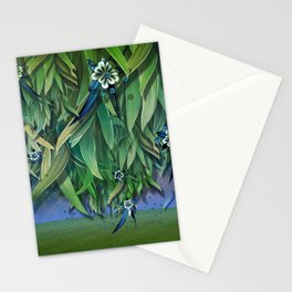 """""""Spring Forest of Surreal Leaf litter and flowers"""" Stationery Cards"""