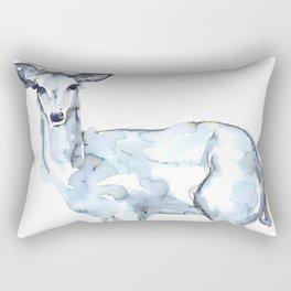 Deer Watercolor Sketch Rectangular Pillow