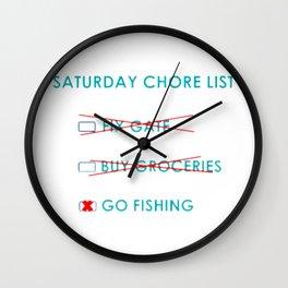 Chore List Wall Clock