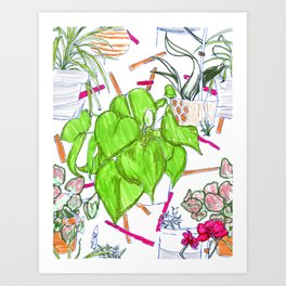 Plant Portrait with Sprinkles Art Print