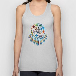 Native American Colorful Dream Catcher by Sharon Cummings Unisex Tank Top