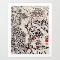 羽衣伝説, Hagoromo Densetsu/Swan Maiden Art Print
