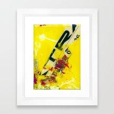 YELLOW6 Framed Art Print