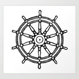 Ship's Helm - Captain's Wheel - Rudder Art Print