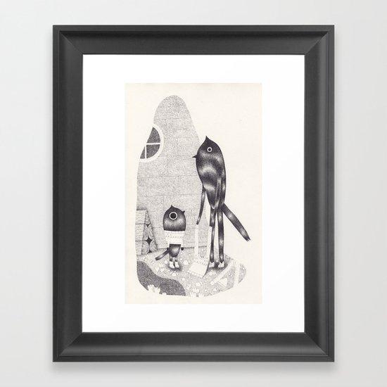 mise à nu Framed Art Print