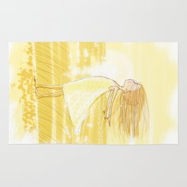 Little Girl In The Wind - Artwork that re-visits your favorite childhood memories Rug