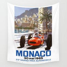 1965 Monaco Grand Prix Racing Poster Wall Tapestry