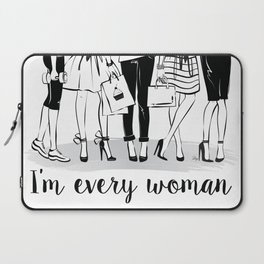 Every Woman Fashion Illustration Art Print Laptop Sleeve
