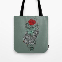 Hawk Rose Tote Bag