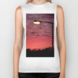 British Winter Sunset Biker Tank
