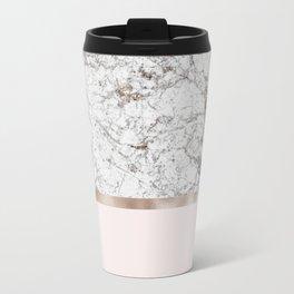 Gleaming rose gold blush Travel Mug