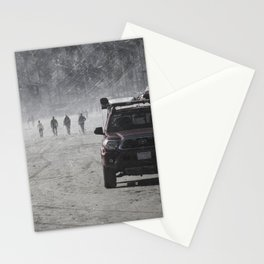 Lifeguard truck on the beach Stationery Cards