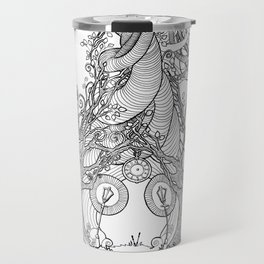 TIME STANDS STILL (travel mugs, blankets, tapestries) Travel Mug