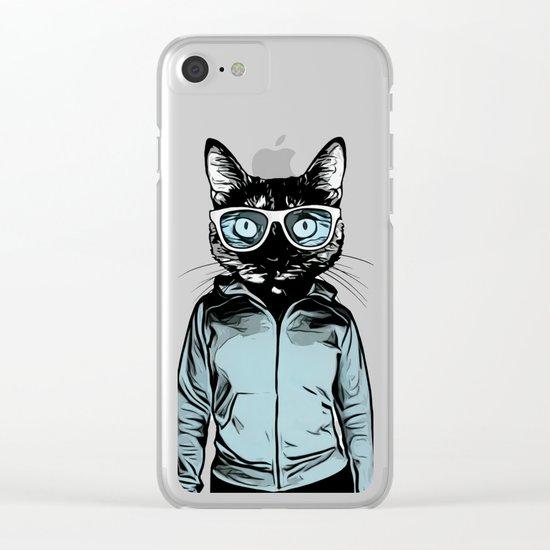 Cool Cat Clear iPhone Case