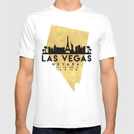 LAS VEGAS NEVADA SILHOUETTE SKYLINE MAP ART T-shirt