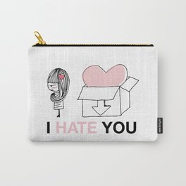 I Hate You / Box Carry-All Pouch