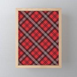 Scottish Plaid (Tartan) - Red Framed Mini Art Print
