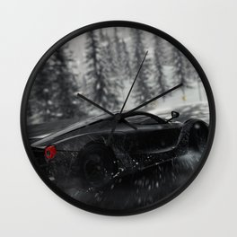 F errari Car Rain Wall Clock