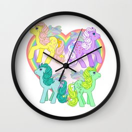 g1 my little pony Flutter Ponies Wall Clock