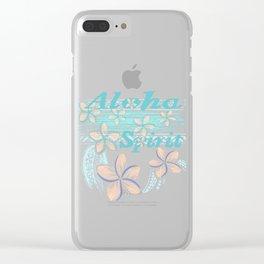 Hawaiin Aloha Spirit Clear iPhone Case