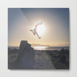 Sunset Jump Metal Print