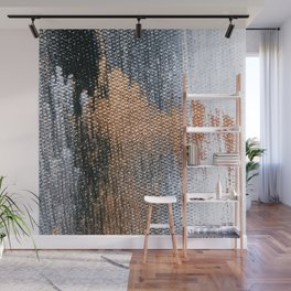 Rose Gold Dream - Abstract Oil Painting Wall Mural
