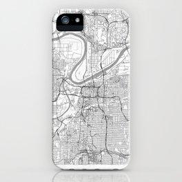 Kansas City Map Line iPhone Case