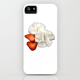 Strawberries and Whip Cream iPhone Case