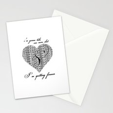 Cross my heart, cross my fingers. Stationery Cards
