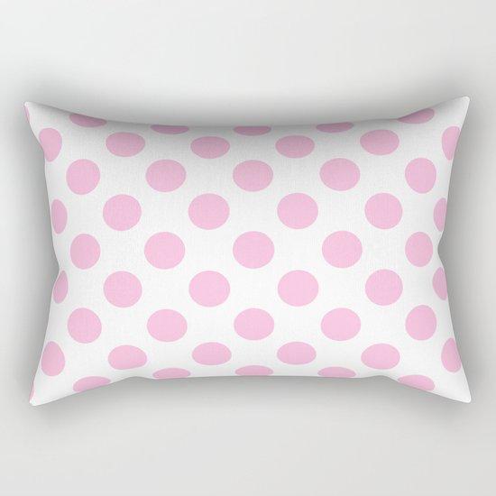 Pink polkadots on white pattern Rectangular Pillow