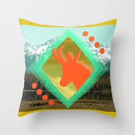 chamois d'or Throw Pillow