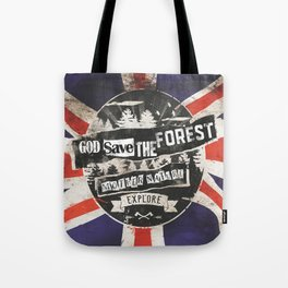 God save the forest Tote Bag