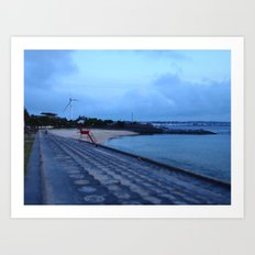 Sunset Beach, Okinawa Art Print